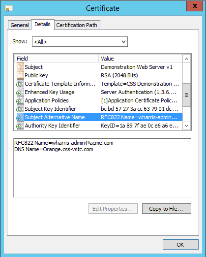 Safely Adding SAN Information to a Certificate Request